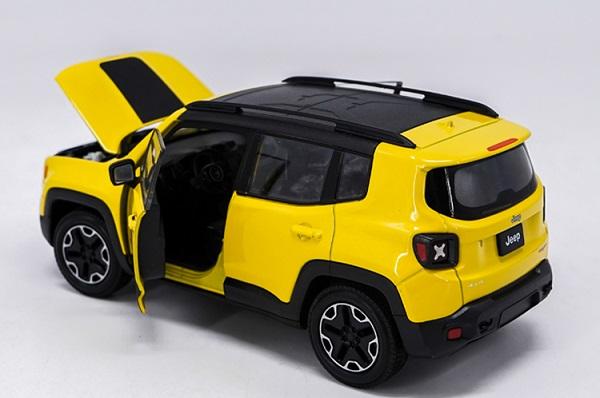 โมเดลรถเหล็ก โมเดลรถยนต์ Jeep Renegade Trailhawk yellow 5