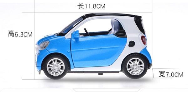 โมเดลรถเหล็ก โมเดลรถยนต์ Benz Smart 3