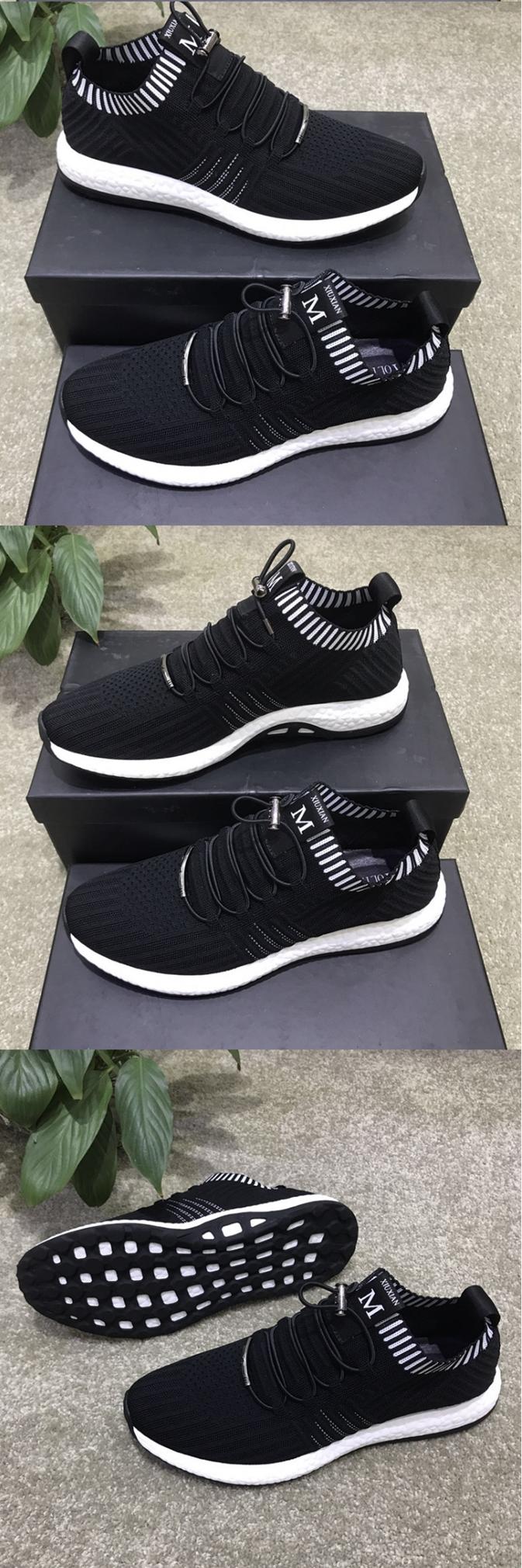 รองเท้าชาย รองเท้าวิ่งแบบตาข่ายระบายอากาศ