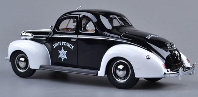 โมเดลรถ โมเดลรถเหล็ก โมเดลรถยนต์ Ford 1939 police 3