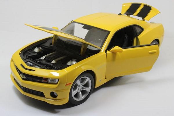 โมเดลรถ โมเดลรถเหล็ก โมเดลรถยนต์ chevrolet camaro yellow 4