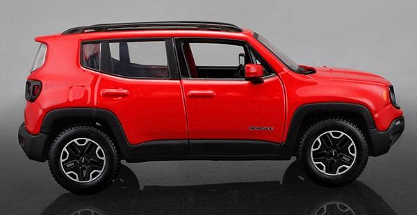 โมเดลรถเหล็ก โมเดลรถยนต์ Jeep Renegade red 3