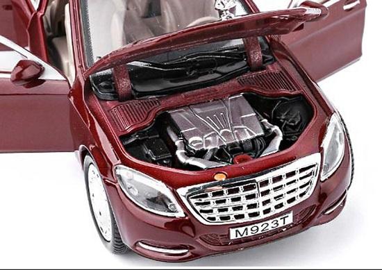 โมเดลรถเหล็ก โมเดลรถ Benz S600 red 4