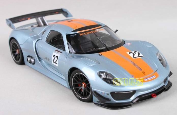 โมเดลรถเหล็ก โมเดลรถยนต์ Porsche 918 RSR 1