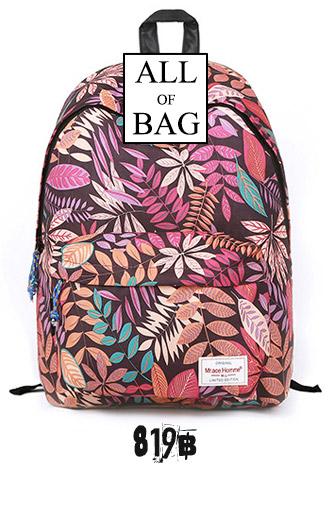 Back pack(กระเป๋าเป้ สะพายหลัง) BA022 สีชมพู พร้อมส่ง