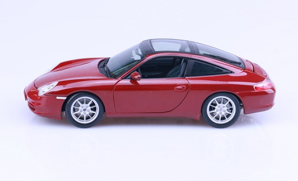 โมเดลรถ โมเดลรถเหล็ก โมเดลรถยนต์ Porsche targa red 3