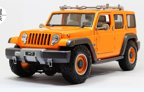 โมเดลรถ โมเดลรถเหล็ก โมเดลรถยนต์ Jeep Wrangler Rescue orange 2