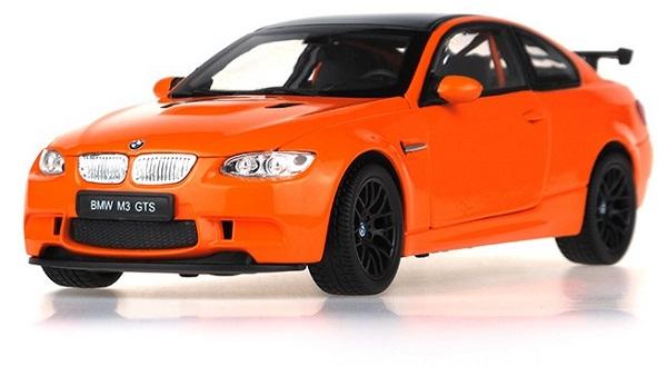 โมเดลรถ โมเดลรถยนต์ โมเดลรถเหล็ก BMW M3 GTS orange 1