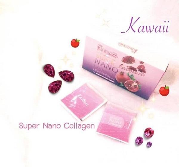 Kawaii แบบกล่อง,ซุปเปอร์นาโน แบบซอง, ซุปเปอร์ นาโน คอลลาเจน คาวาอิ รสทับทิม, Super Nano Collagen Pomegranate Kawaii