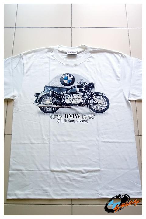 เสื้อยืด T-Shirt ลายBMW R60 มี2สี คือสีขาว และสีดำ