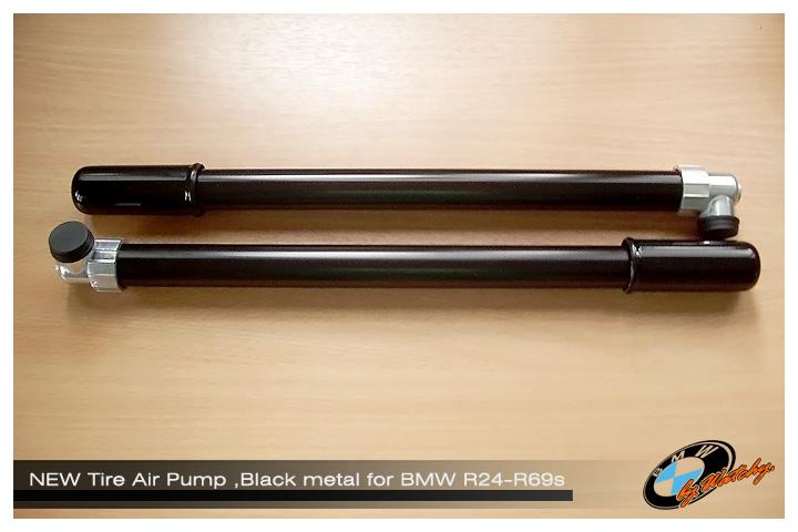 ที่สูบลมติดรถ (แบบเหล็ก) สีดำ เหมาะสำหรับ BMW R25/3 - R69s เป็นของใหม่ สั่งจากเยอรมัน