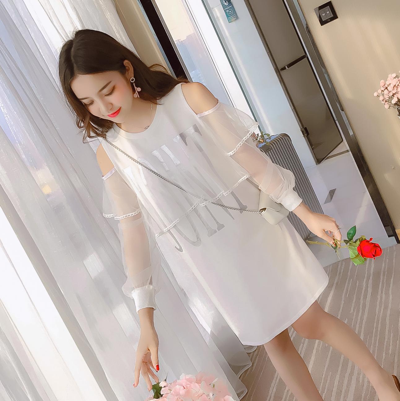 JY21871#เสื้อแฟชั่นสไตล์เกาหลีแบบเรียบหรู