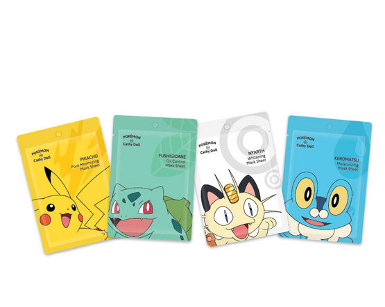 Karmart Cathy Doll Pokemon Edition Mask Sheet 4 สูตร แผ่นมาส์ก 4 สูตร ตามสภาพผิวและความต้องการของผิว ช่วยกระชับรูขุมขน ควบคุมความมัน ผิวกระจ่างใส ชุ่มชื่น