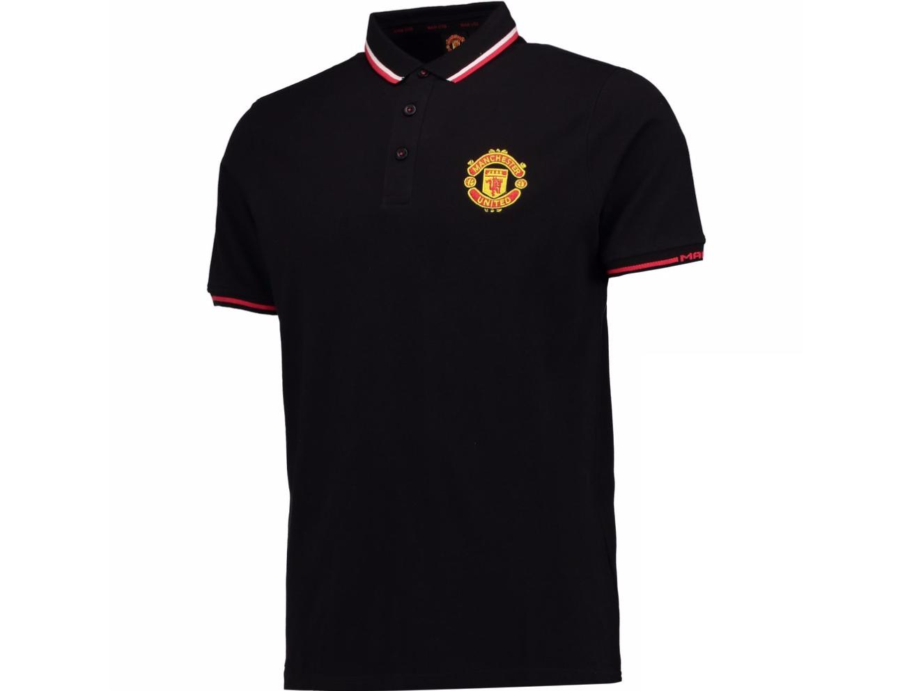 เสื้อโปโลแมนเชสเตอร์ ยูไนเต็ด Core Polo Shirt - Black ของแท้
