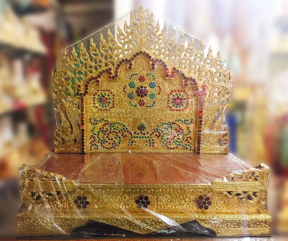 แท่นพระพม่า 24 นิ้ว(งานกระจก/พระนอน)