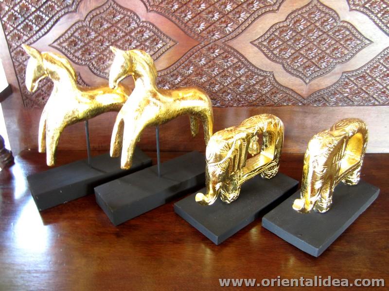 ช้างเดี่ยวกระดิ่งทองเหลือง N-007