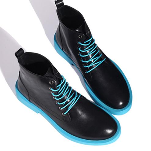รองเท้าผู้ชาย   รองเท้าแฟชั่นชาย รองเท้าบูทหนัง แฟชั่นเกาหลี