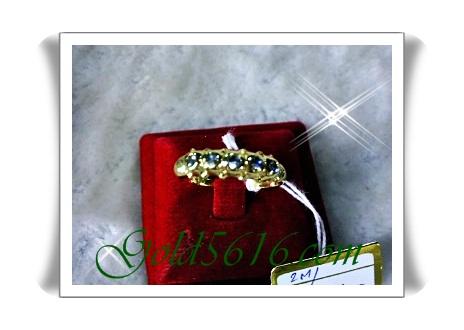 แหวนเพชรซีกแถวเดียว gold plated 2microns