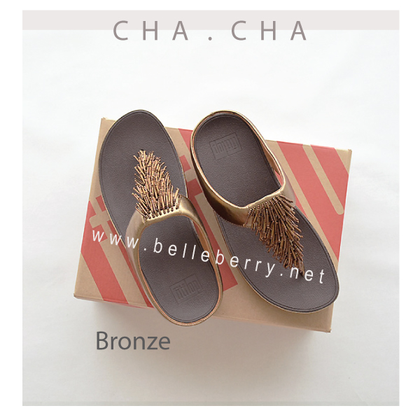**พร้อมส่ง** FitFlop CHA CHA : Bronze : Size US 8 / EU 39