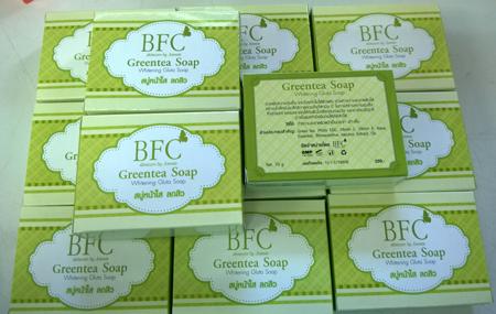 สบู่ชาเขียว หน้าใส ลดสิว BFC Greentea Soap