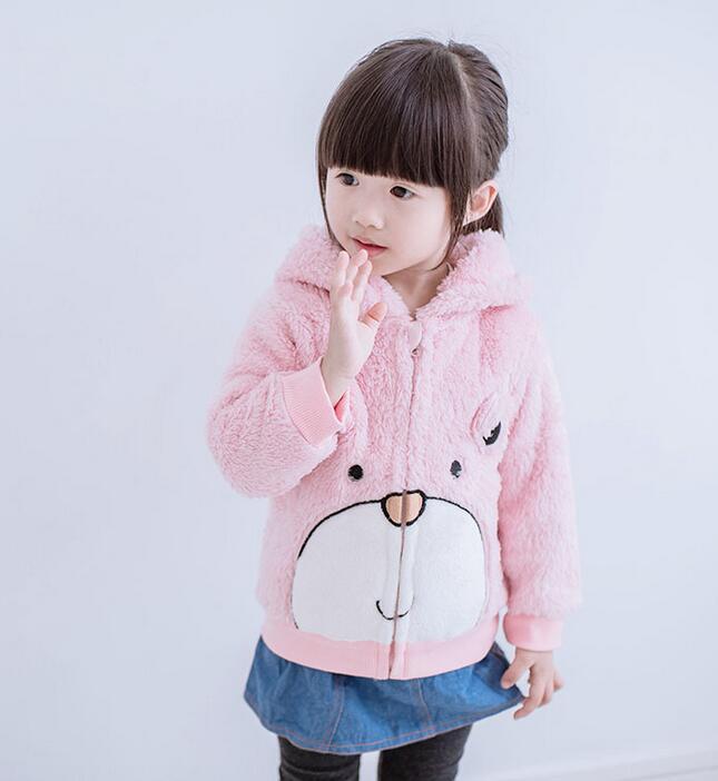 เสื้อแจ็คเก็ตกันหนาว มีฮูทหมีเท็ดดี้ (ชมพู)