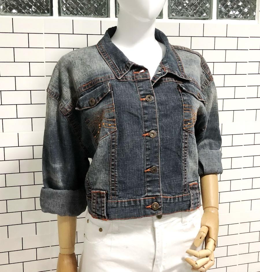 ส่ง:งานจีนเสื้อคลุมแจ็คเก็ตยีนส์แท้แบบเก๋ๆสวยๆ/อก46