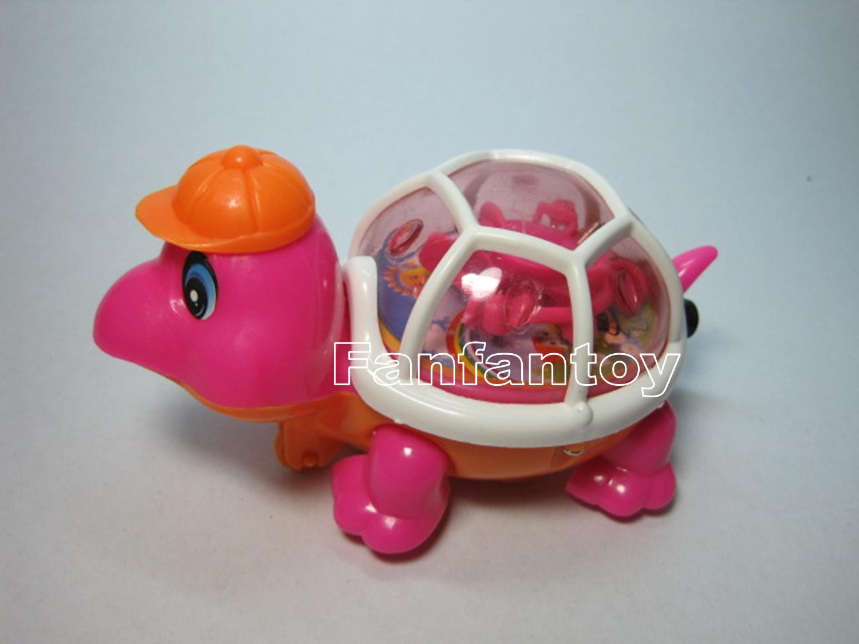เต่าเชือกดึง มีไฟ สีชมพู