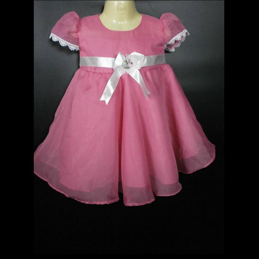 ชุดออกงานเด็กเล็กสีชมพูสำหรับเด็กเบบี้ BL471
