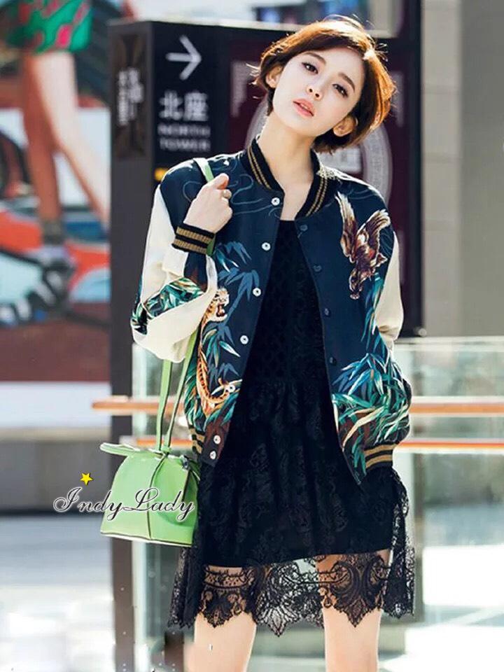เสื้อผ้าเกาหลี พร้อมส่งTiger Print Jackets