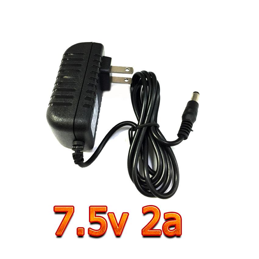 adapterที่ชาร์จ AC DC 7.5v 2a หัวใหญ่5.5x2.5mm