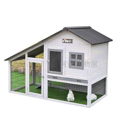 บ้านส่วนตัวของสัตว์เลี้ยงlสำเร็จรูป 2 ชั้น หลังคาจั่วสโลฟ มีใต้ถุน
