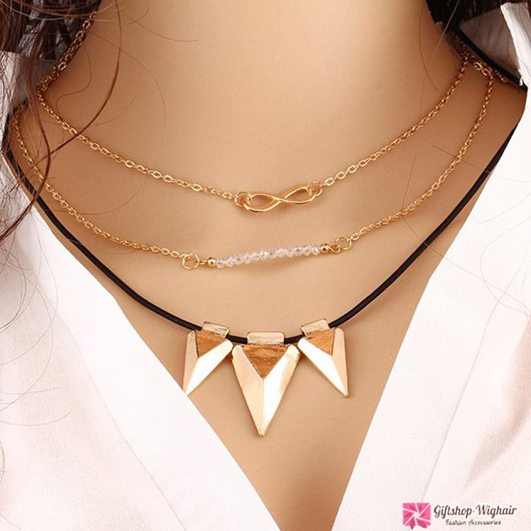 สร้อยคอ Multilayer triangular chain V2
