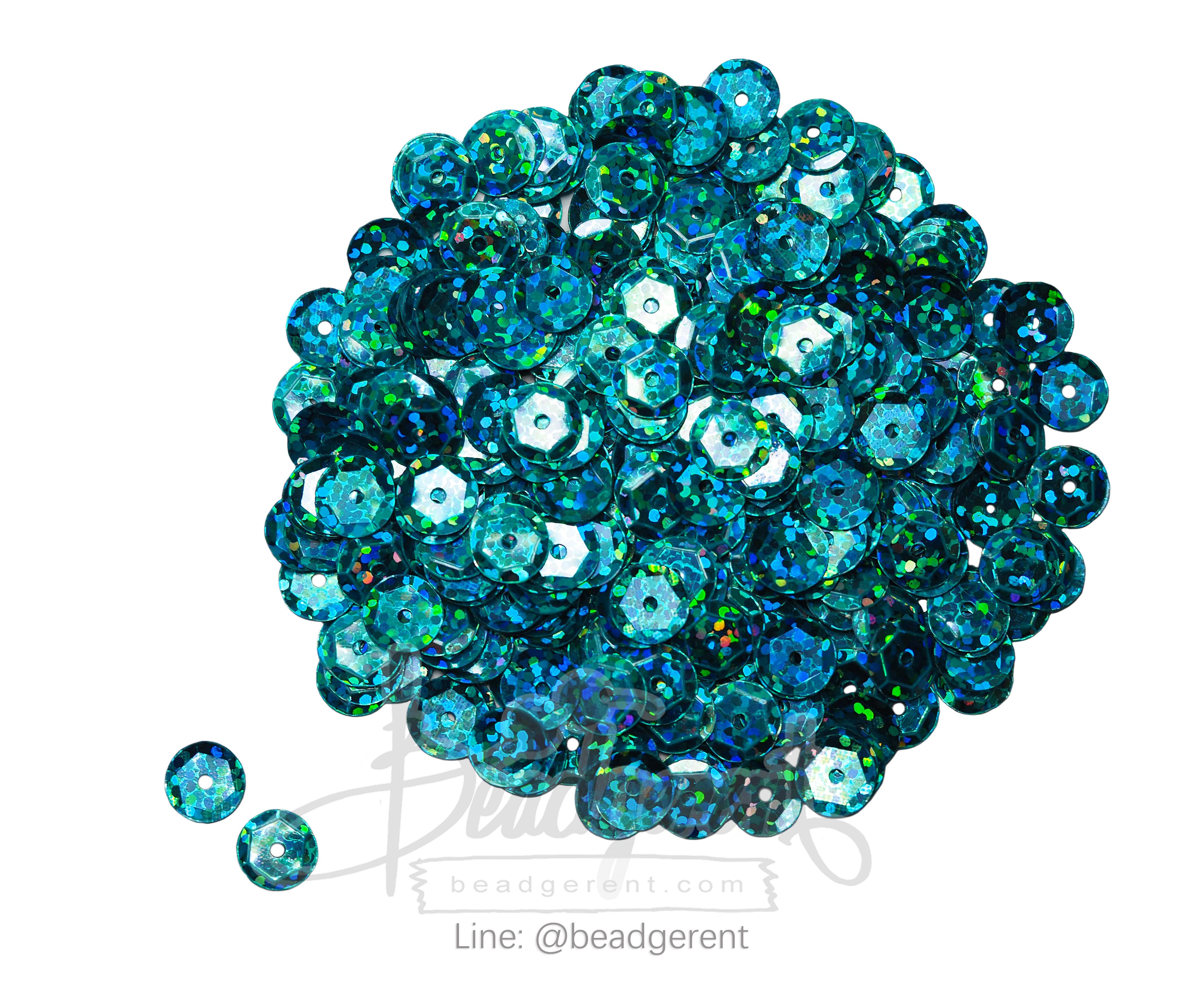 เลื่อมจานดิสโก้ 8มิล สีฟ้า (120 กรัม)