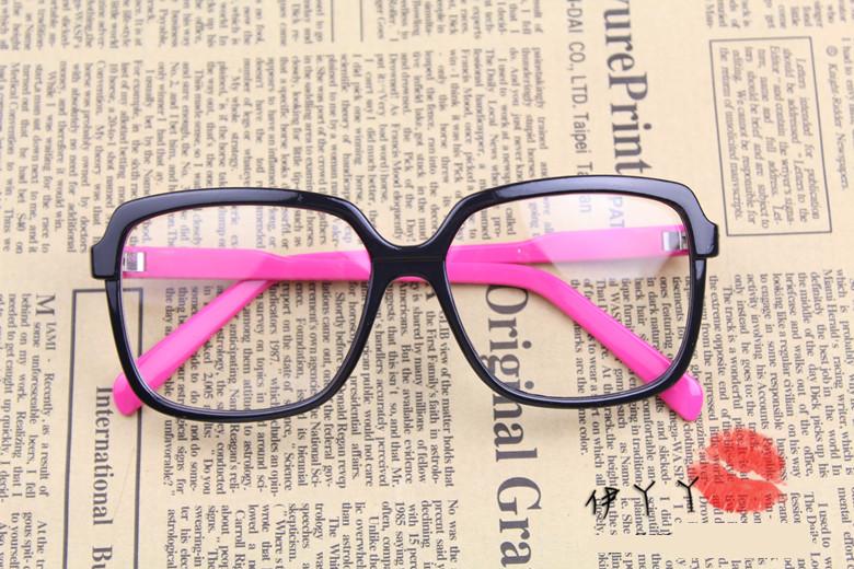 แว่นตาแฟชั่นเกาหลี ดำโรส (พร้อมเลนส์)