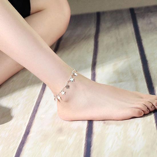 สร้อยข้อเท้าเกาหลีประดับรูปผีเสื้อ