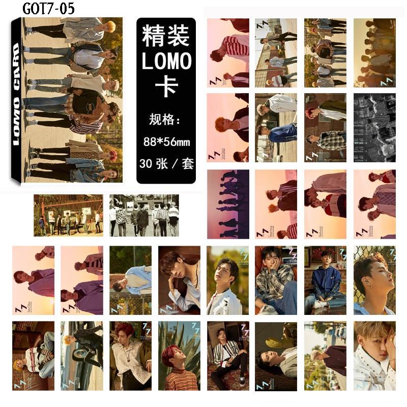 LOMO CARD GOT7 7 FOR 7 30รูป