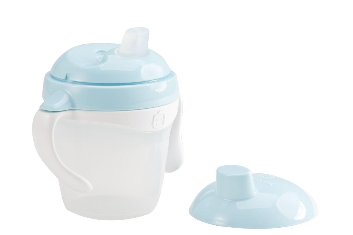 KK-12 ถ้วยหัดดื่ม Kido Spout Cup Step 1 (6 เดือน+) สีฟ้า