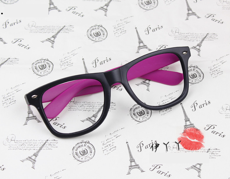 แว่นตาแฟชั่นเกาหลี ดำโรส (ไม่มีเลนส์)