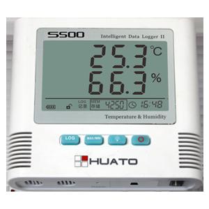 เครื่องบันทึกอุณหภูมิและความชื้น (TCP/IP network Temperature and Humidity Data Logger) ยี่ห้อ Huato รุ่น S500 เซนเซอร์ผลิตจาก สวิตเซอแลนด์