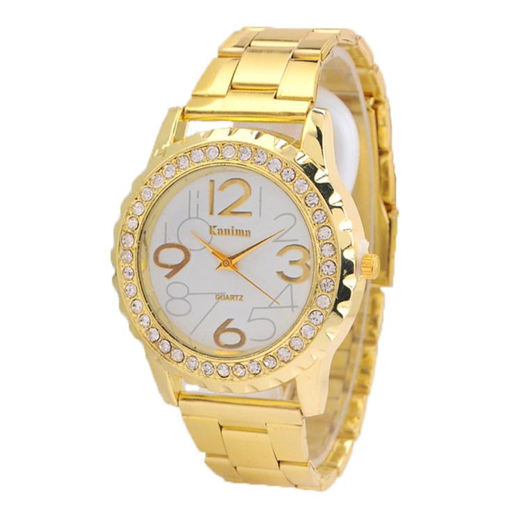 Kanima Quartz watches women นาฬิกาผู้หญิง แบรนด์ของฮ่องกง ระบบควอทด์ กันน้ำ กันสนิม โกลด์พิ้งค์