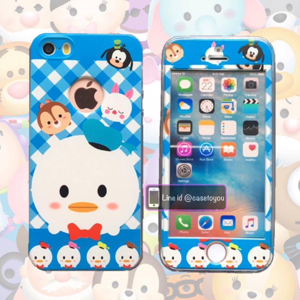 เคสประกบหน้าแข็ง หลังนิ่ม Donald Duck iPhone 6/6S