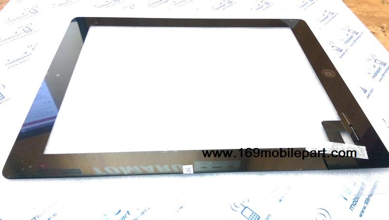 ทัชสกรีน (จอนอก) iPad 2 ปุ่มโฮม+กาว 3M สีดำ