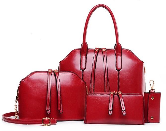 กระเป๋าแฟชั่น สีแดง รหัส AA2