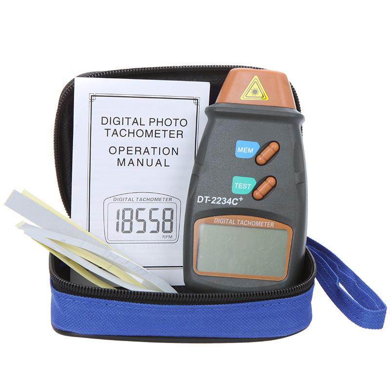 เครื่องวัดความเร็วรอบ (Digital Tachometer) แบบเลเซอร์ รุ่น DT-2234C+