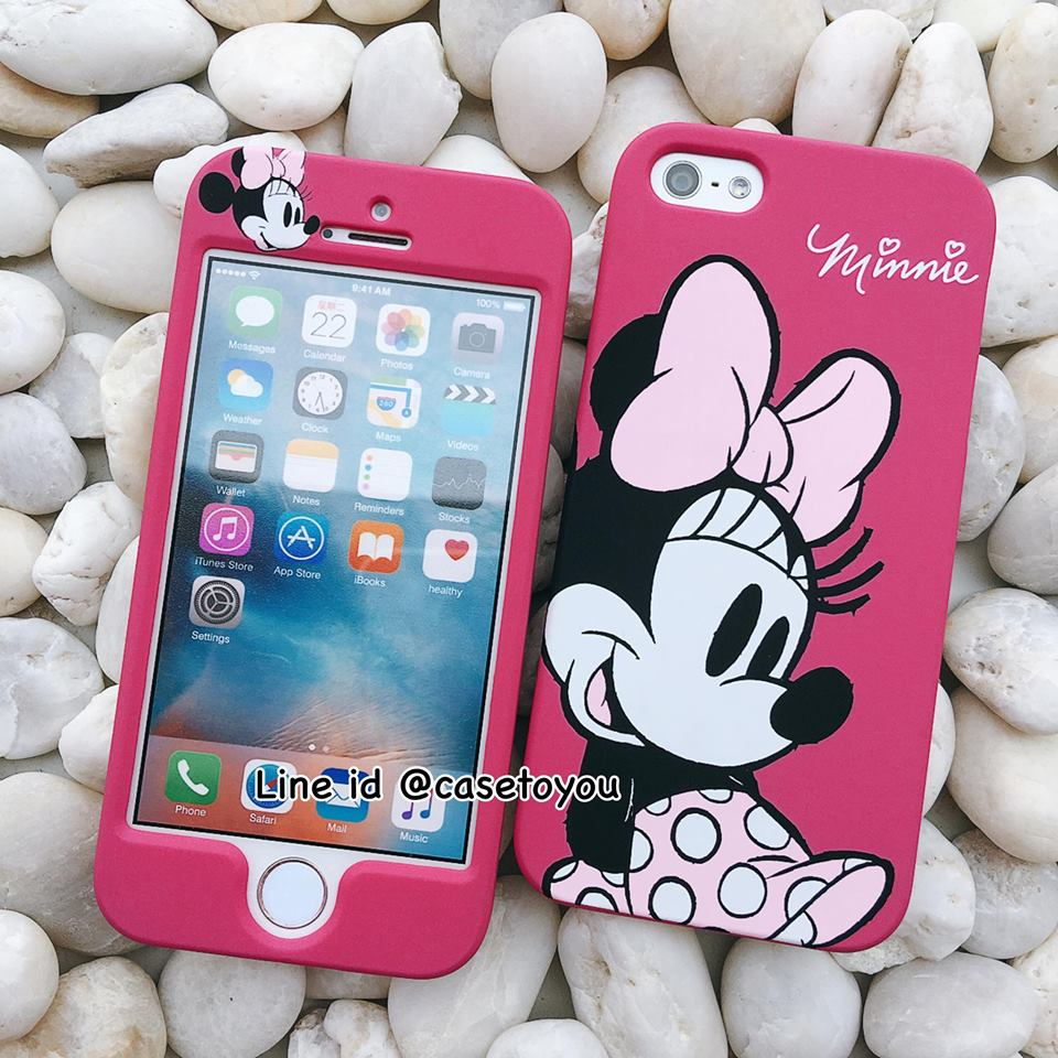 เคสประกบหน้า-หลัง Minnie Mouse iPhone 5/5S และ SE