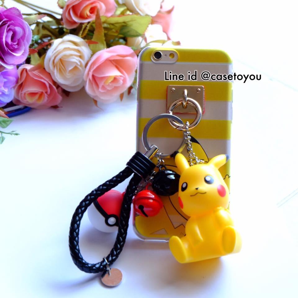 Pokemon แถมพวงกุญแจตุ๊กตา (A) iPhone 5/5S/SE