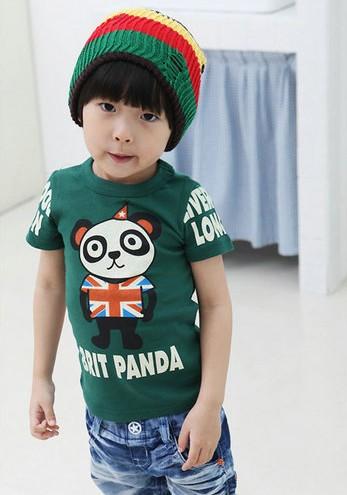 CI&SI เสื้อแขนสั้นสีเขียวเข้ม BRIT PANDA