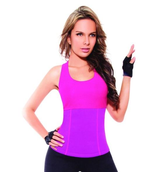 เสื้อโยคะเรียกเหงื่อ Hot Shapers Yoga Shirt - สีชมพู
