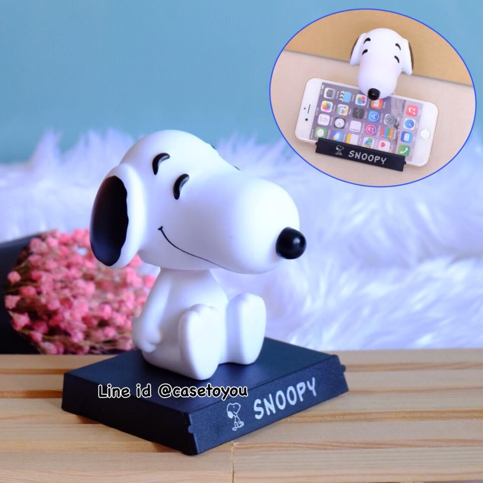 โมเดลหัวโยกสำหรับวางมือถือ ลาย Snoopy