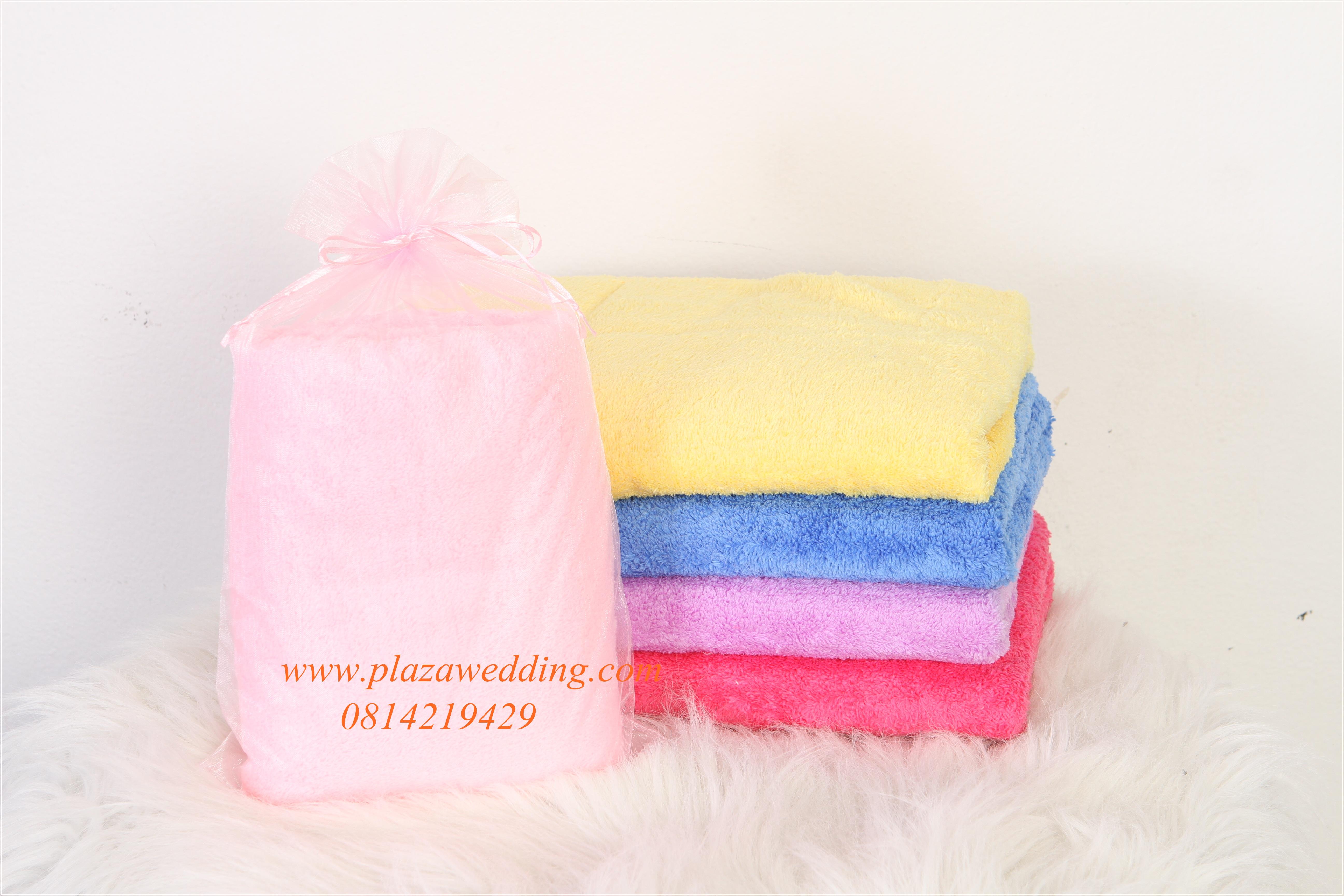 ผ้านาโนเช็ดตัวสีพื้น เนื้อหนานุ่ม ขนาดใหญ่ 30x60 นิ้ว แพคถุงผ้า ฟรีแท็ค